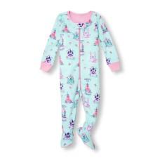 ชุดนอนเด็ก Baby And Toddler Girls Long Sleeve 'Daddy's Little Princess' Castle Print Stretchie