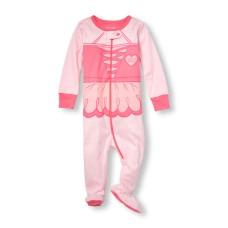 ชุดนอนเด็ก Baby And Toddler Girls Long Sleeve 'Daddy's Tiny Dancer' Ballerina Stretchie