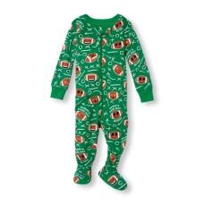 ชุดนอนเด็ก Baby And Toddler Boys Long Sleeve 'Daddy's Game Day Buddy' Football Play Print Stretchie