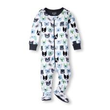 ชุดนอนเด็ก Baby And Toddler Boys Long Sleeve 'Whoof' Doggy Print Stretchie