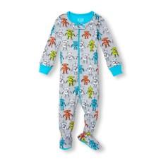 ชุดนอนเด็ก Baby And Toddler Boys Long Sleeve Robot With A Heart Print Stretchie