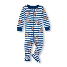 ชุดนอนเด็ก Baby And Toddler Boys Long Sleeve 'Just Hanging Out With Mom' Monkey Stripe Stretchie