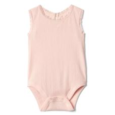 บอดี้สูทเด็ก GAP Pink Camero Lace trim tank bodysuit