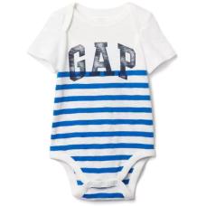 บอดี้สูทเด็ก GAP Vintage logo stripe bodysuit