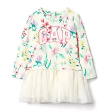 เสื้อผ้าเด็ก GAP Logo floral tutu dress