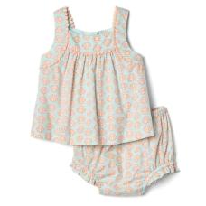 เสื้อผ้าเด็ก GAP Shell pom-pom top and bloomer set