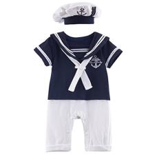 เสื้อผ้าเด็ก Mombebe Baby Boys' 2 Pieces Sailor Romper Outfit