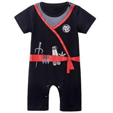 เสื้อผ้าเด็ก Mombebe Baby Boys' Ninja Costume Romper