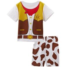 เสื้อผ้าเด็ก Mombebe Baby Boys' Western Cowboy Costume Short Set