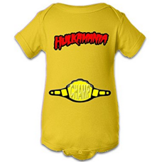 บอดี้สูทเด็ก A Tee Tee Monster Baby Hulkamania Wrestling  Yellow