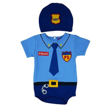 เสื้อผ้าเด็ก Sozo Unisex-Baby Newborn Police Bodysuit and Cap Set