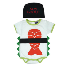 เสื้อผ้าเด็ก Sozo Unisex-Baby Newborn Sushi Bodysuit and Cap Set